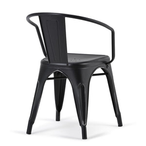 Larkin Metal Dining Arm Chair