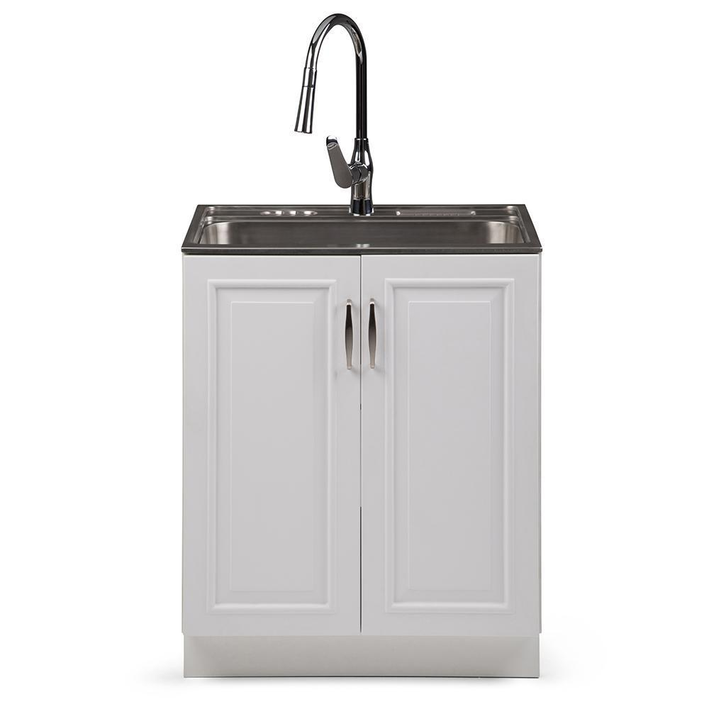Darwin 28 inch Laundry Cabinet with Pull-out Faucet and ...
