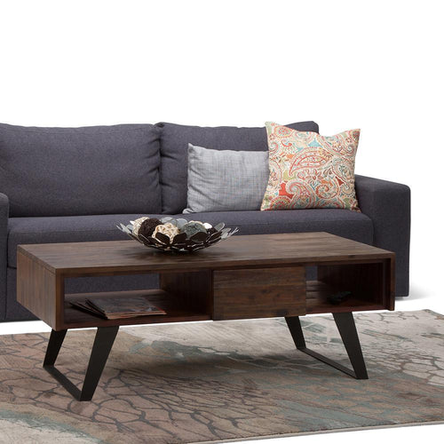 Distressed Charcoal Brown | Lowry Coffee Table