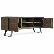 Load image into Gallery viewer, Distressed Grey | Lowry Solid Acacia Wood Wide TV Media Stand For TVs up to 70 Inches