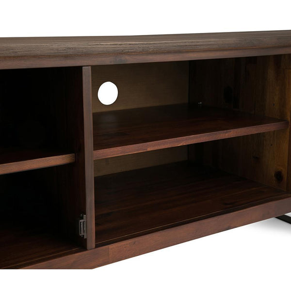 Lowry Solid Acacia Wood Wide Tv Media Stand For Tvs Up To