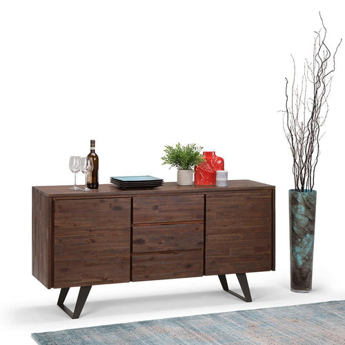 Distressed Charcoal Brown | Lowry Sideboard Buffet