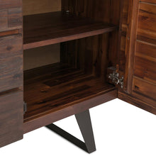 Load image into Gallery viewer, Lowry Solid Acacia Sideboard Buffet in Distressed Charcoal Brown
