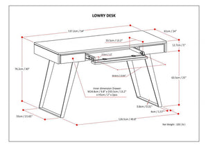 Distressed White | Lowry Desk
