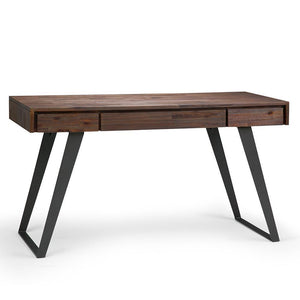 Distressed Charcoal Brown | Lowry Desk