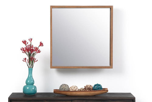 Natural | Armand Square Decor Mirror