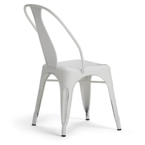 Distressed White | Merritt Metal Dining Arm Chair