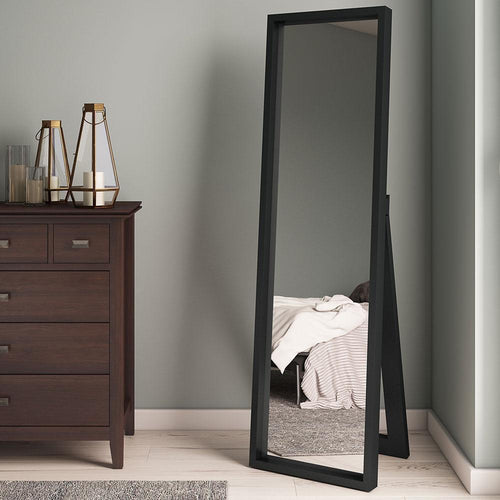 Black | Kenna Standing Shadow Box Decor Mirror