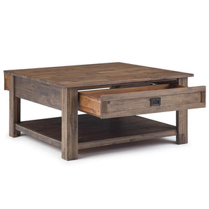Rustic Natural Aged Brown | Monroe Square Coffee Table
