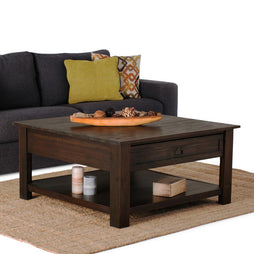 Distressed Charcoal Brown | Monroe Square Coffee Table