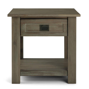 Distressed Grey | Monroe End Side Table