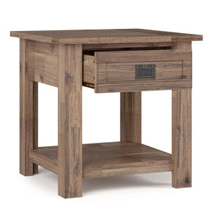 Rustic Natural Aged Brown | Monroe End Side Table