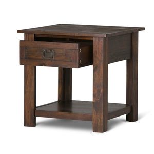 Distressed Charcoal Brown | Monroe End Side Table