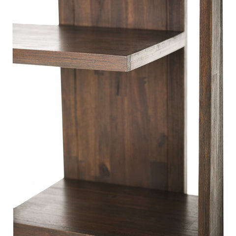 Distressed Charcoal Brown | Monroe Bookcase