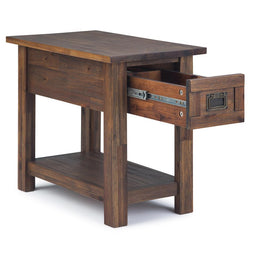Distressed Charcoal Brown | Monroe Narrow Side Table