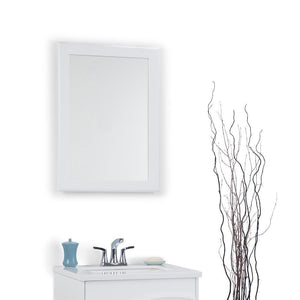 White | Marlowe 22 x 30 inch Bath Vanity Decor Mirror