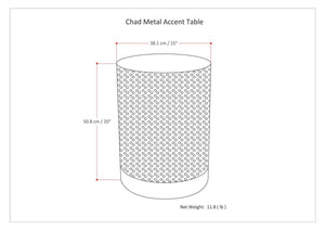 Chad Metal Accent Table in Two Tone Finish