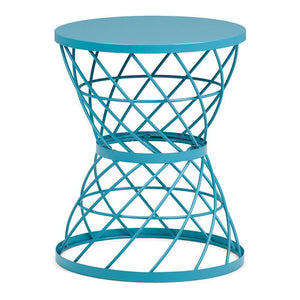 Rodney Metal Accent Table in Turquoise