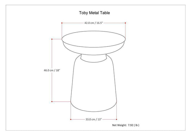 Load image into Gallery viewer, Silver | Toby Metal Accent Table