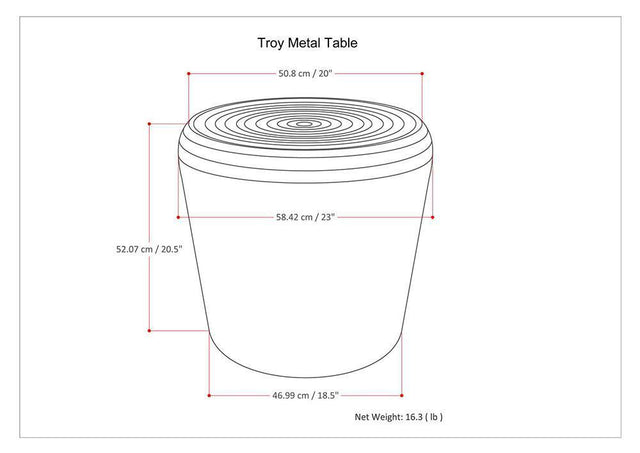 Load image into Gallery viewer, Troy Metal Accent Table in Antique Silver