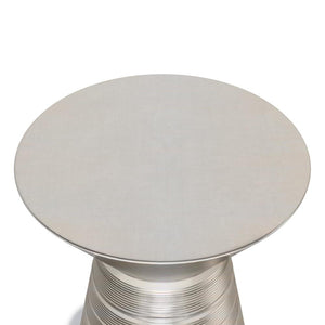 Antique Silver | Sheridan Metal Accent Table
