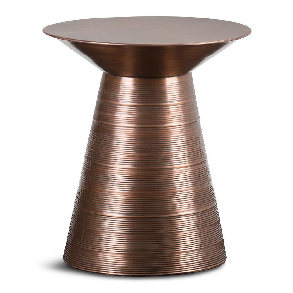 Sheridan Metal Accent Table in Aged Copper