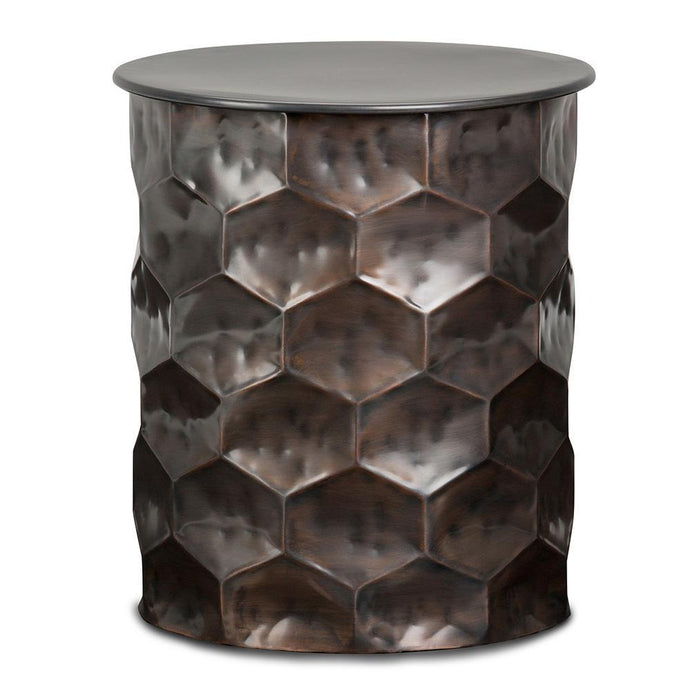 Antique Bronze | Whitney 17 inch Metal Storage Side Table