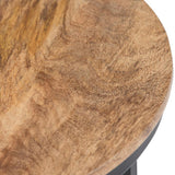 Jenna Round Side Table in Natural Finish