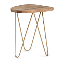 Load image into Gallery viewer, Patrice Metal/Wood Accent Table in Natural and Gold