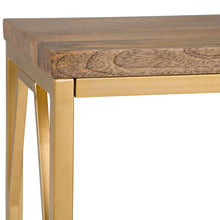 Load image into Gallery viewer, Selma Metal/Wood Accent Table in Natural and Gold