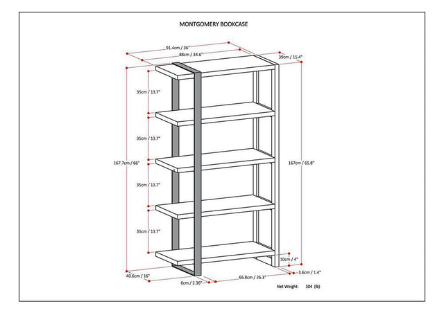 Load image into Gallery viewer, Montgomery Bookcase