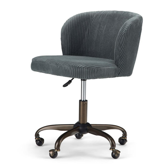 Grey Corduroy Fabric | Sheehan Swivel Office Chair