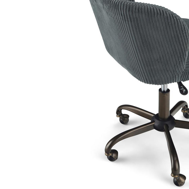 Load image into Gallery viewer, Grey Corduroy Fabric | Sheehan Swivel Office Chair