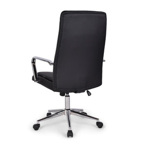 Black Faux Leather | Swanson Swivel Office Chair