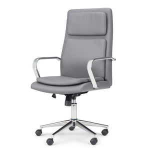 Stone Grey Faux Leather | Swanson Swivel Office Chair