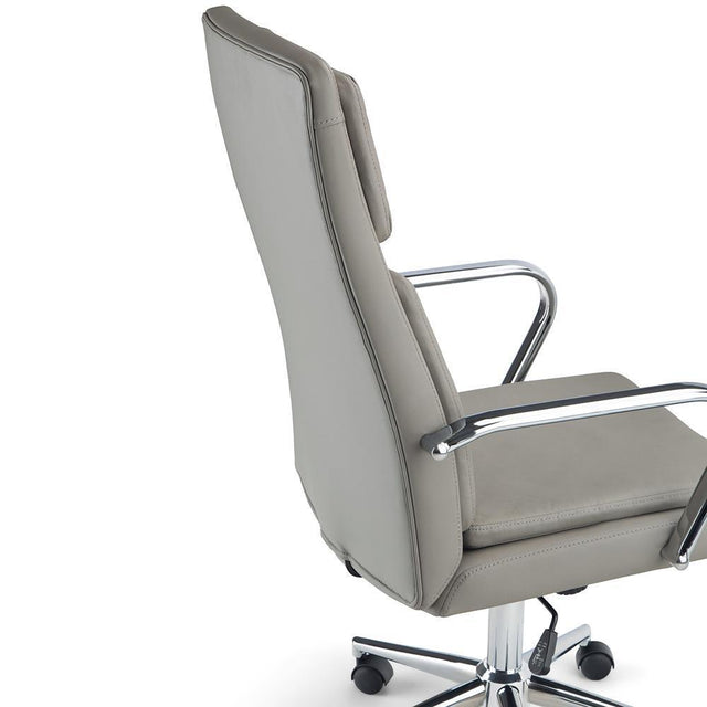 Load image into Gallery viewer, Taupe Faux Leather | Swanson Swivel Office Chair