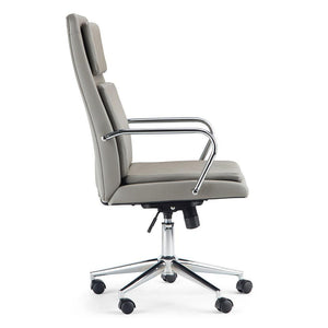 Taupe Faux Leather | Swanson Swivel Office Chair