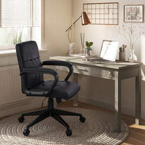 Distressed Black | Brewer Swivel Office Chair