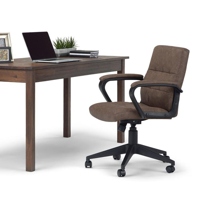 Load image into Gallery viewer, Distressed Brown | Brewer Swivel Office Chair