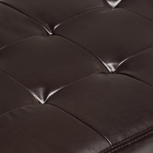 Laredo Faux Leather Storage Ottoman