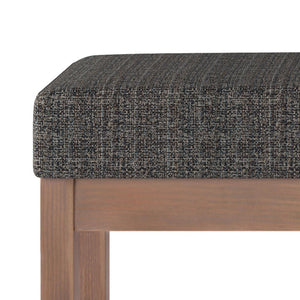 Large Ebony | Milltown 44 inch Large Ottoman Bench in Linen Look Fabric