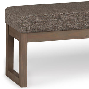 Large Mink Brown | Milltown 44 inch Large Ottoman Bench in Linen Look Fabric