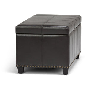 Tanners Brown PU Faux Leather | Amelia Storage Ottoman Bench