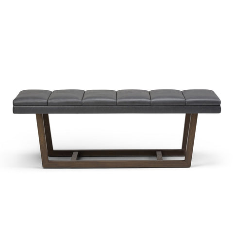 Stone Grey PU Faux Leather | Jenson Ottoman Bench