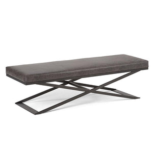 Distressed Black | Cooper Large Ottoman Bench