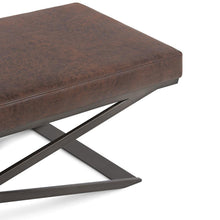 Load image into Gallery viewer, Distressed Brown | Cooper Large Ottoman Bench