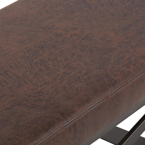 Distressed Brown | Cooper Large Ottoman Bench