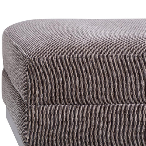 Pewter | Oscar Extra Wide Ottoman Bench