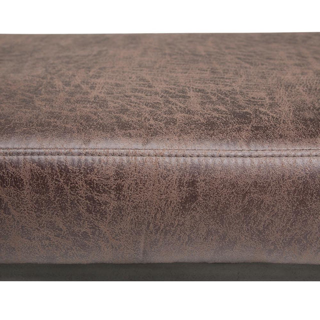 Load image into Gallery viewer, Trey 48 inch Ottoman Bench in Distressed Cocoa Brown Air Faux Leather