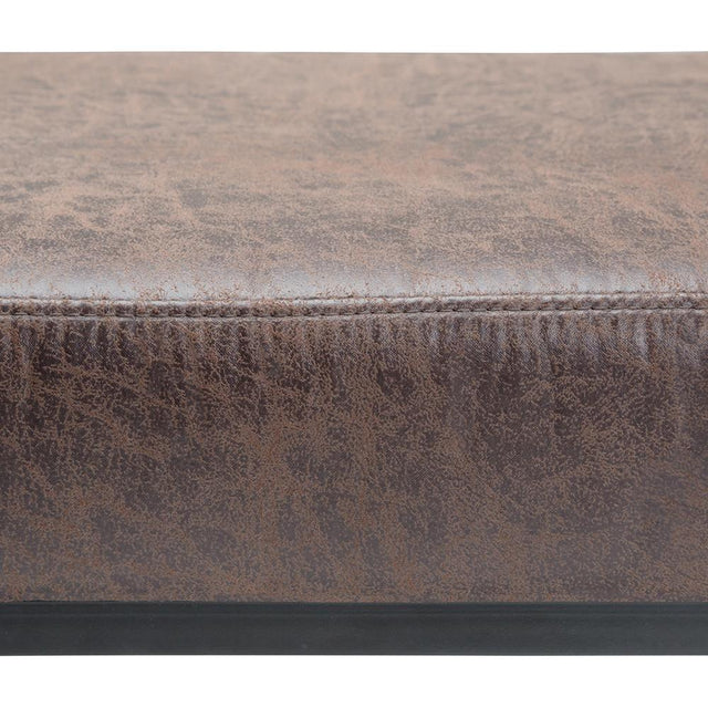Load image into Gallery viewer, Logan 54 inch Ottoman Bench in Distressed Cocoa Brown Air Faux Leather